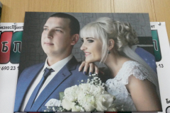 Свадебное фото на холсте 30 на 40 см