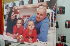 Семейное фото на холсте 110 на 75 см