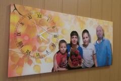Часы на холсте с фото 23.01.17