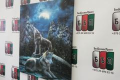 Картина на холсте Волки 50 на 60 см