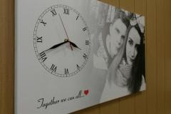 Часы с фото на холсте 07.10.16