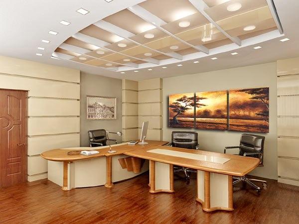 Модульная картина в офисе